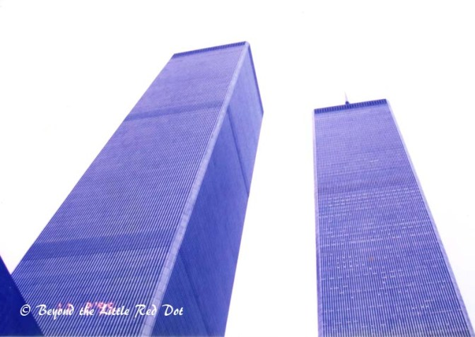 The twin towers of the World Trade Center.