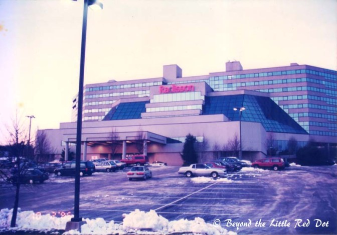 The Radisson Hotel in Hauppauge. It was really in the middle of nowhere.
