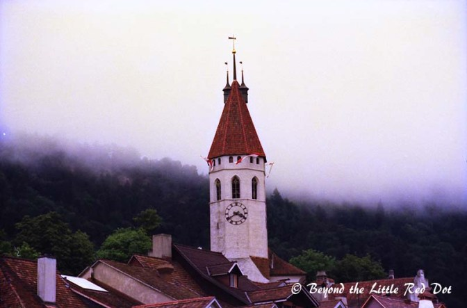 The tower of the main church in Thun.