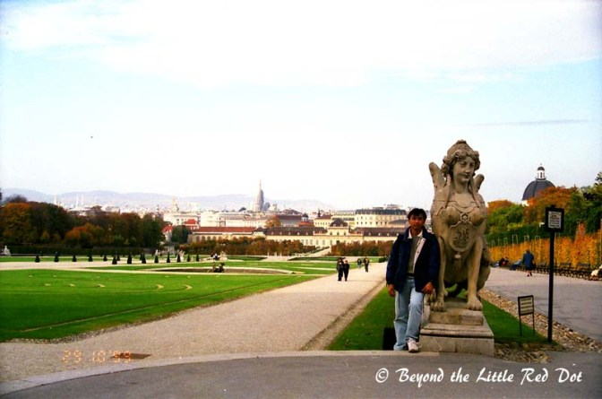 The park and gardens of Schonbrunn Palace.