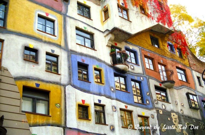 Hundertwasser House. A quirky looking building which is a work of modern design and art. Besides, just looking at the building from outside, there is a shop where you can buy related curios, souvenirs and art.