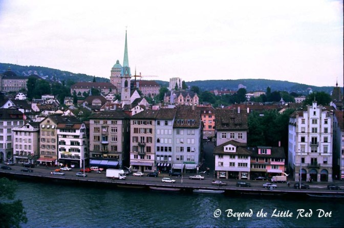 The other part of the Old Town with the Zurich University Library in the distance.