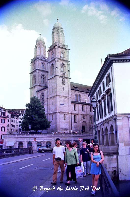 Grossmünster cathedral started its construction in 1100AD as a monastery.