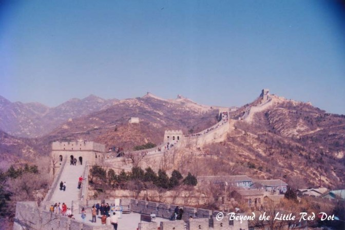 My first view of the Great Wall. There were not many tourists at that time and the weather was superb.