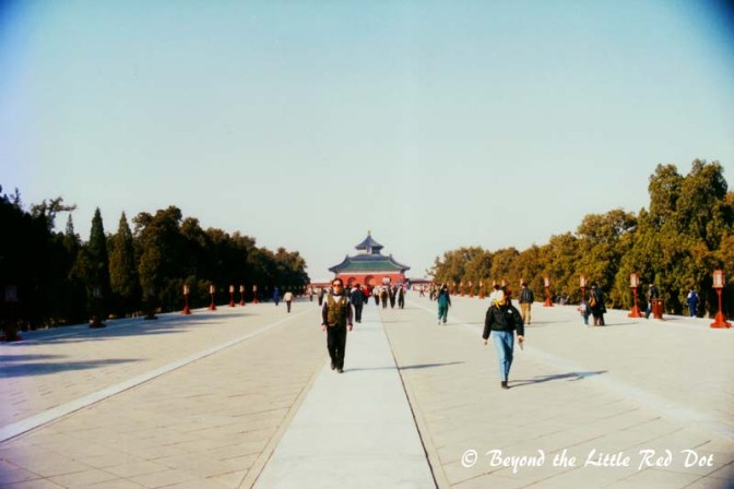 The long walk to the Temple of Heaven.
