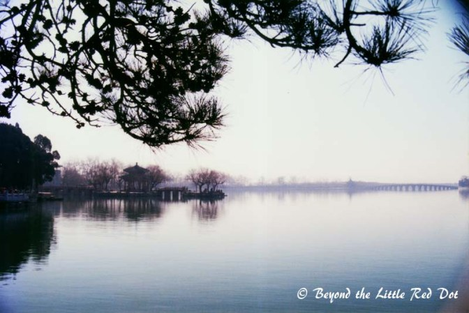 Kunming Lake is the center of the park.
