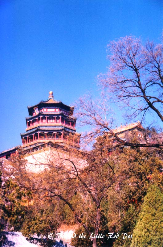 The pagoda which is on top of Longevity Hill.