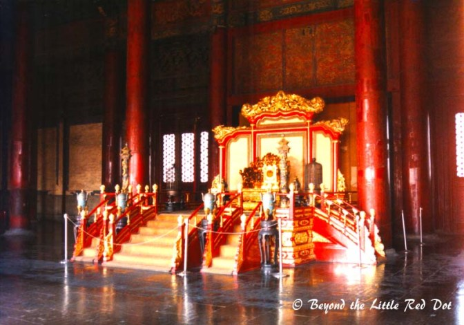 Some of the halls contain thrones which were used by the emperor or the empress.