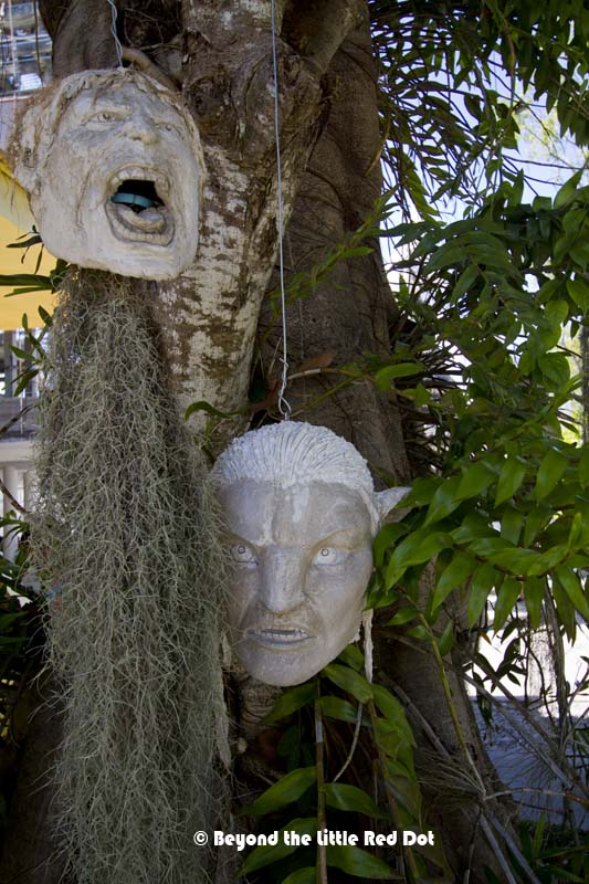 That shrunken head flower pots looks like that guy from Avatar.