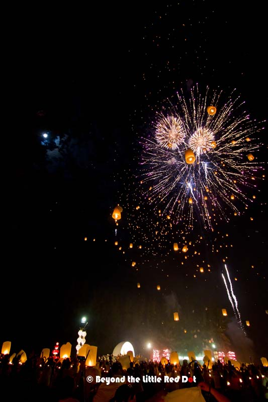A short fireworks display added some pomp and excitement to the festival.