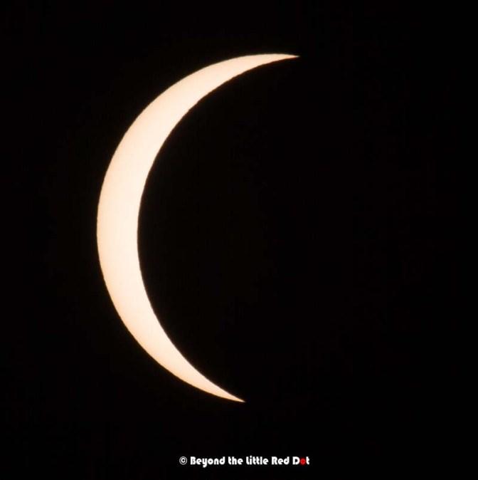 At around 90% eclipse at 8.23am.