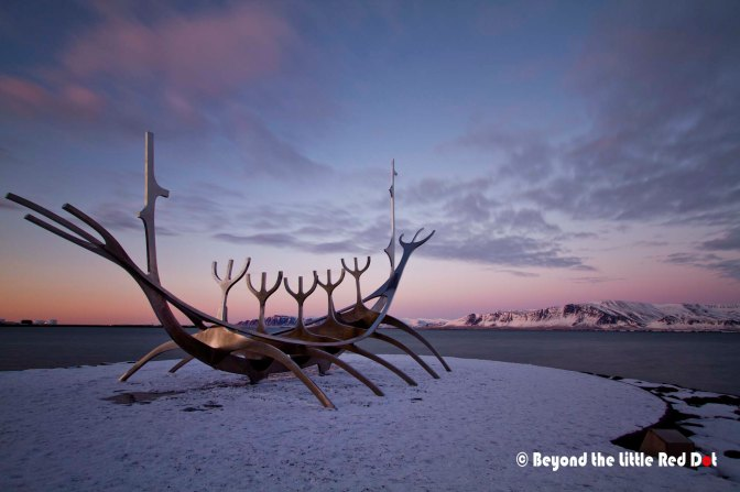 Perhaps the most famous sculpture in Reykjavik is the Solfar or Sun Voyager.