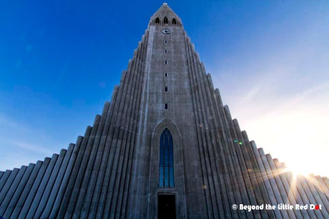 The structure was designed to look like the basalt lava columns that can be found throughout Iceland.