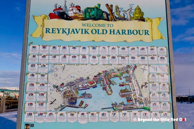 A big map by the Old Harbour.