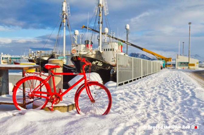 There are bicycle rentals along the Old Harbour but they were not operating during the winter months.