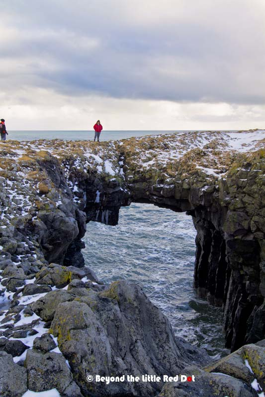 Rock arches overlooking the North Atlantic Ocean.