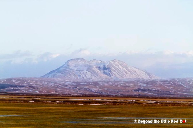 "Taken from the bus, Hekla volcano. It is still active and when it erupts, the Icelanders say ""What the Hek!"" or that's what they told me."