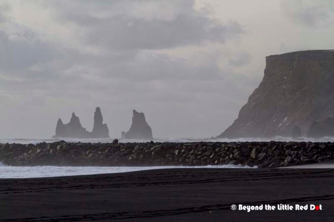 The black sand beach at Vik.