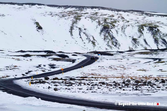 The road near Mýrdalsjökull glacier.