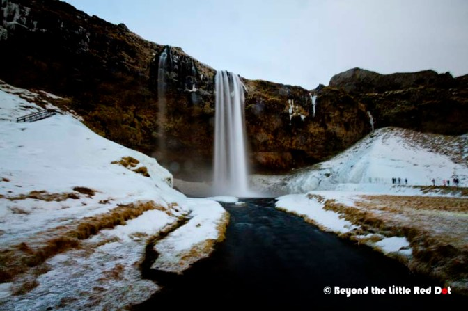 Another popular waterfall is Seljalandsfoss.
