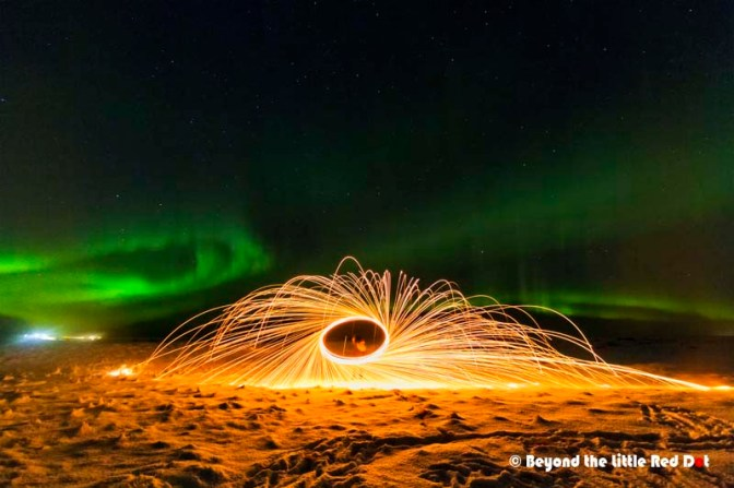Besides just photographing the Aurora, we had some fun with burning steel wool to create some out-worldly photos.