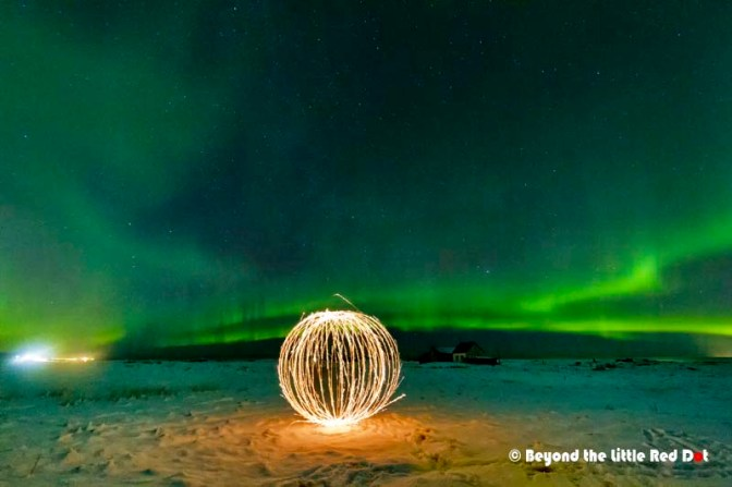 Another burning steel wool photo. This involves swinging a clump of burning steel wool at the end of a cable.