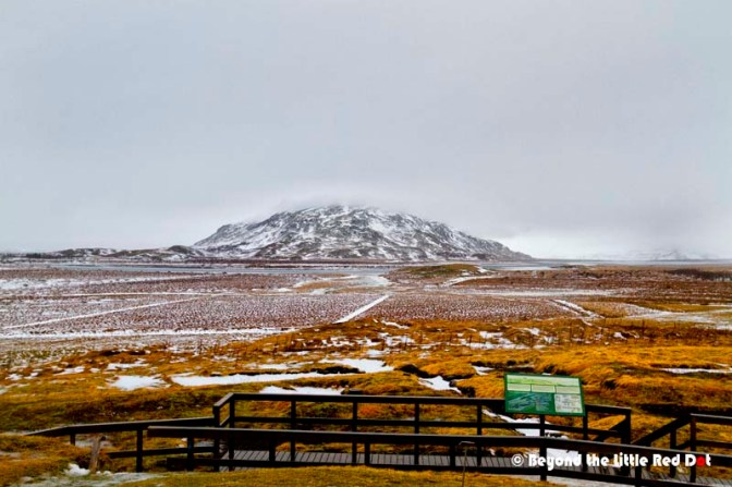 A very nice view of the mountains from Skálholt's lookout point.