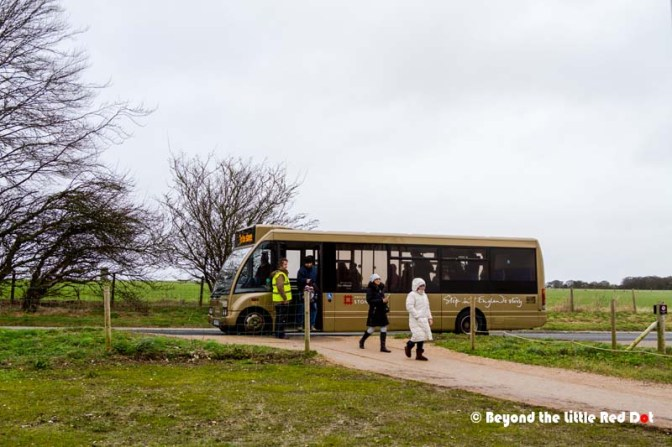 The free shuttle bus that ferries visitors from the Visitor Centre to Stonehenge and back.