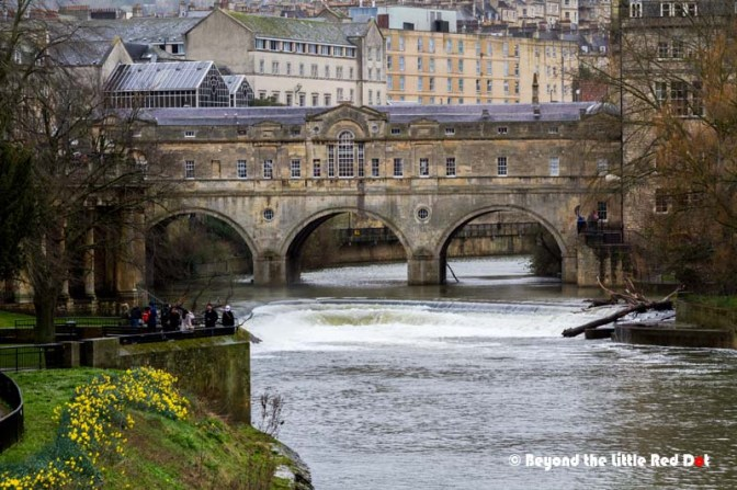 One of the more famous sights in Bath is Pulteney Bridge.