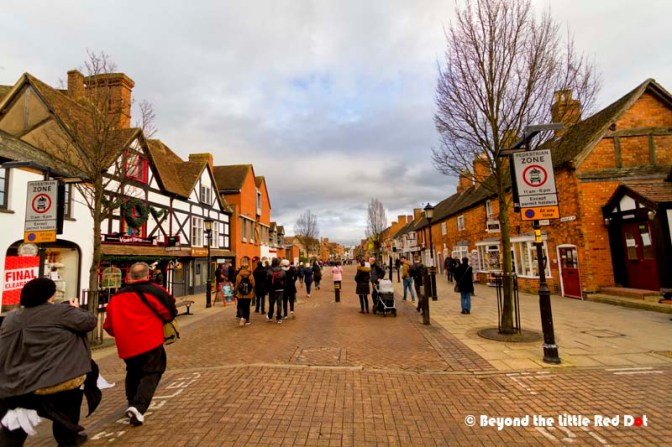 The main street that runs from Shakespeare's birthplace all the way down to the Avon River.