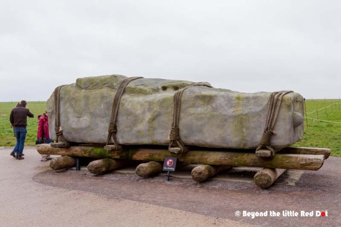 How the huge stones were brought to Stonehenge remain a mystery. A mockup with a life sized stone shows it was transported from hundreds of miles away.