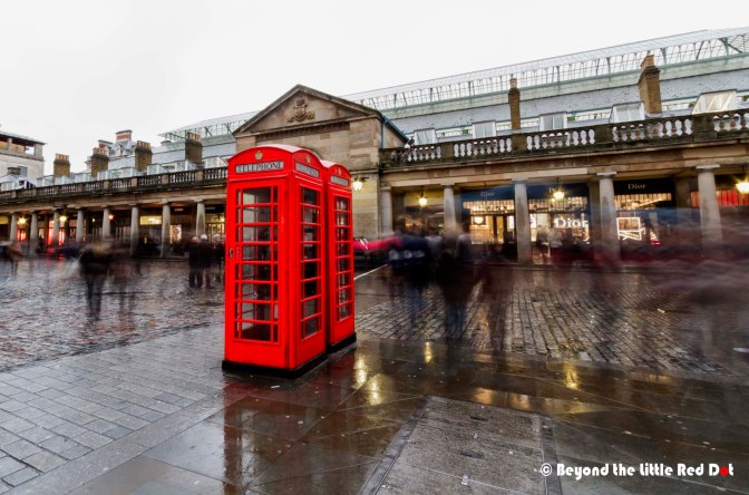 The iconic red telephone booths which have been made famous by numerous artists and photographers.