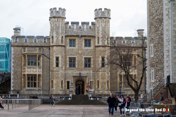 The central keep where the Crown jewels are kept on display. No photographs are allowed in there.