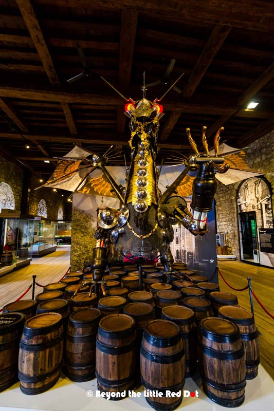 Meet a dragon in the castle, how apt. On the topmost floor of the Tower is a modern art collection.