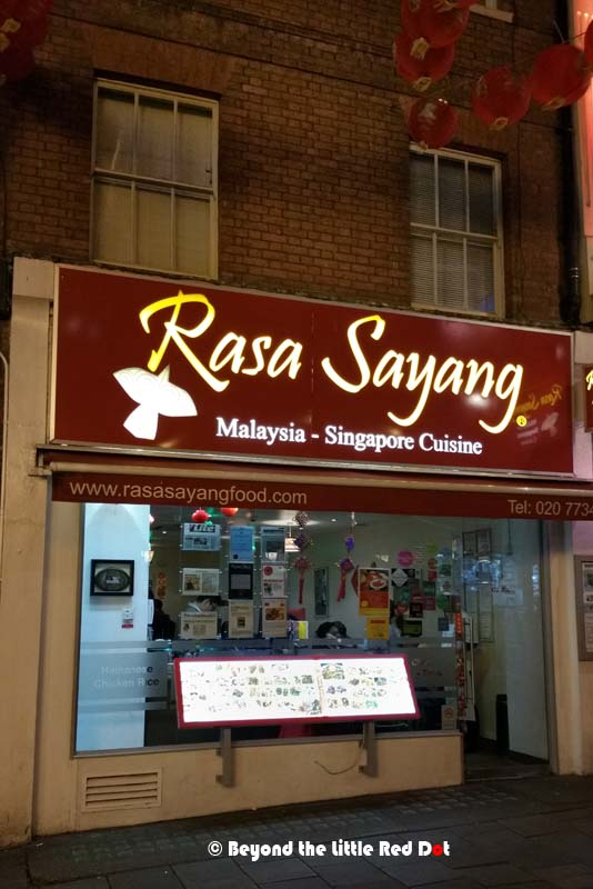Passed by this restaurant in Chinatown. I'm sure the food is great judging by the number of people in there, but we didn't come all the way here just to eat Singapore/Malaysian food.