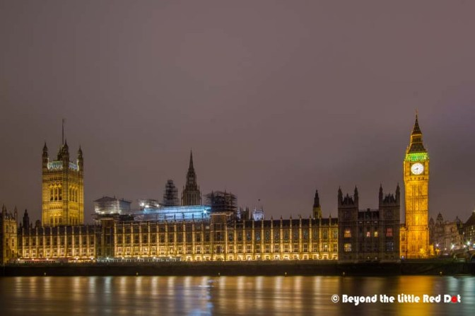 Big Ben and the House of Parliament.