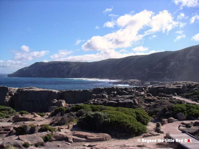 The granite cliffs near The Gap with spectacular views of the coast and Southern Ocean.