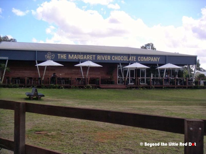 The famous Margaret River Chocolate company. Visitors can stop here for a meal and shopping.