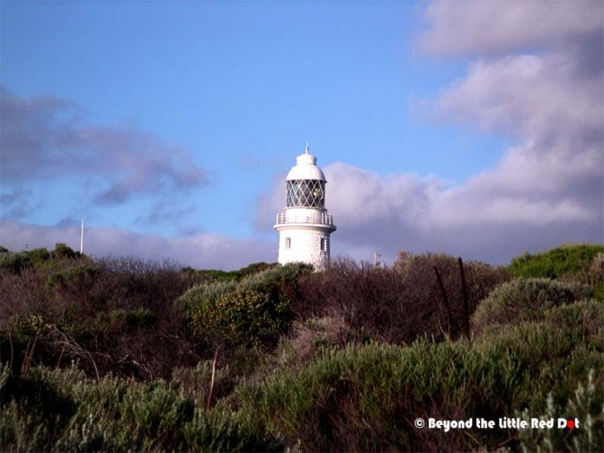 Cape Naturaliste lighthouse. To enter and see the lighthouse you have to pay and join an organized tour.