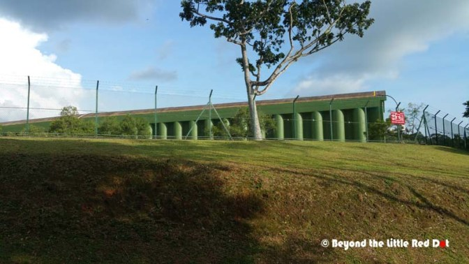 After passing Singapore Island Country Club, the trail passes a huge concrete water reservoir. This is a landmark if you should get lost.