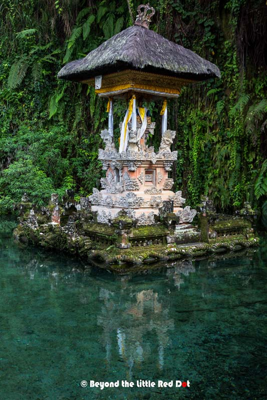 A shrine in the middle of the holy pool. No one is allowed to enter this pool except the priest.