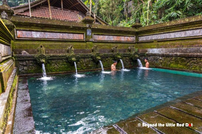 In a corner of the temple is the bathing pools where pilgrims ritually bathe and cleanse themselves.
