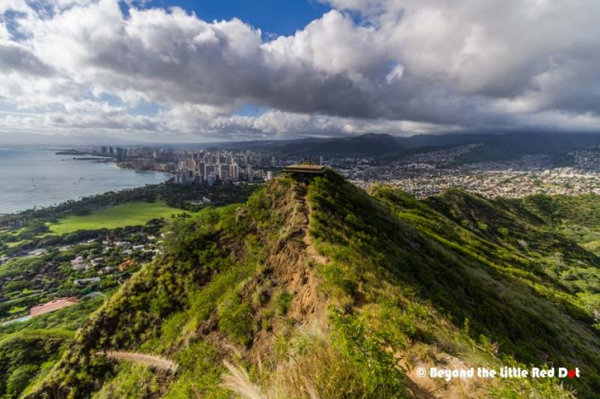 A pretty view of Honolulu from the top of Diamond Head.