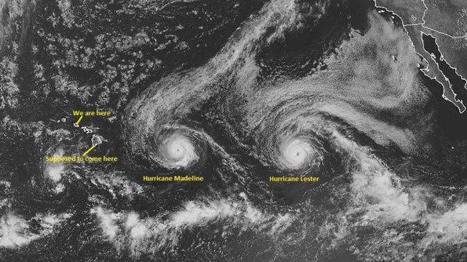 I never heard of hurricanes in Hawaii but it's quite rare, and hurricane season is from June to November. The last time a hurricane hit Hawaii was in 1992.