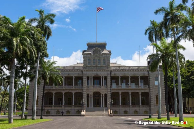 We visited 'Iolani Palace on a Sunday when it was closed. It's opened Mon-Sat, 9am-4pm. They offer guided tours and audio led self-guided tours.
