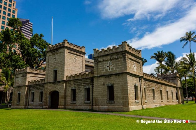 'Iolani Barracks where you buy your tickets from. It was closed as it was a Sunday.