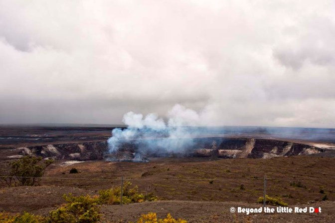 Kilauea crater by day. It doesn't look as impressive compared to the night photos. You can't see the lava glow in the day.