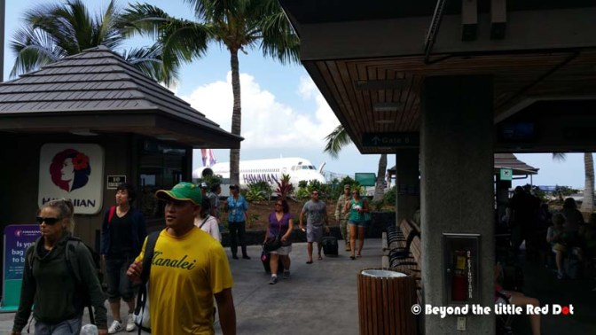 The relaxed atmosphere at Kailua-Kona Airport. You know you are in Vacationland.