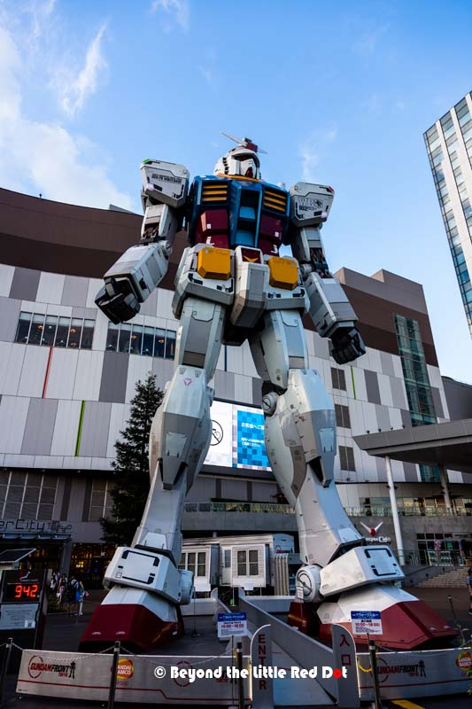 And in Odaiba, we came face to face with a life size Gundam robot.