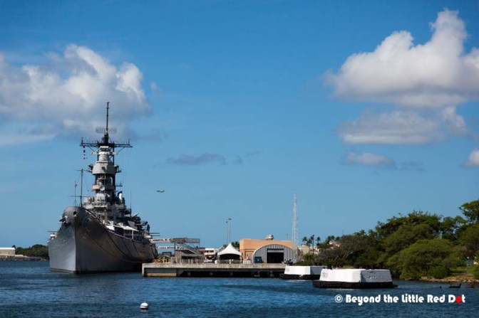 The USS Missouri which is now a museum. The Japanese signed their surrender aboard this battleship.